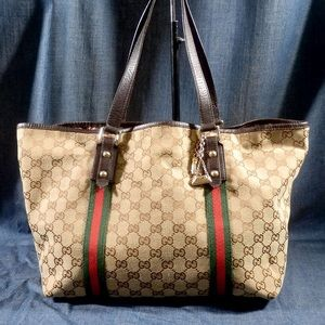 auth Gucci bag sherry larger
